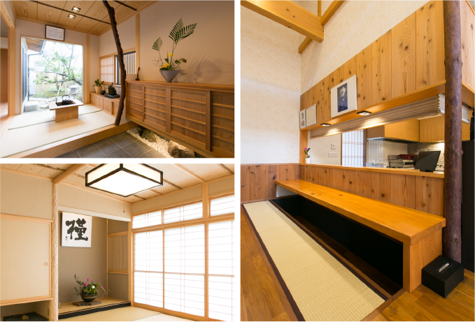 Additional house features (pine, bamboo and plum trees)